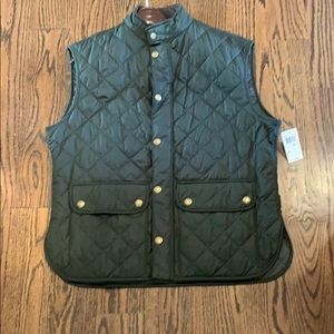 NWT XXL Green Quilted Barbour Vest